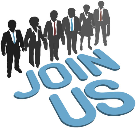 recruiting: Recruiting invitation to join company corporation business team Illustration
