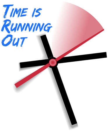 time out: Act now clock expires on limited time offer as time runs out  Illustration