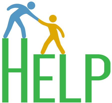 Cliente ottiene mano fino a trovare risposta al problema del sostegno di servizi o di consulenza Archivio Fotografico - 26586832