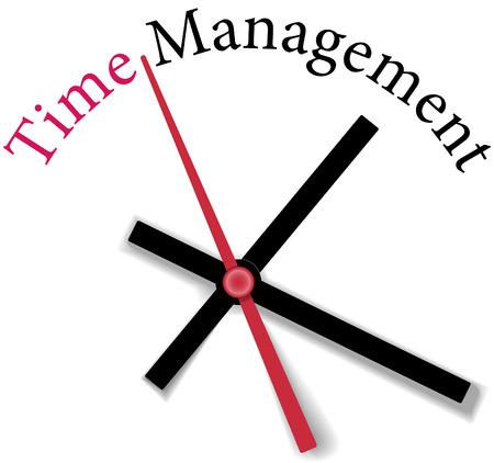 gestion del tiempo: Reloj de tiempo de gestión del tiempo medida de eficiencia personal o de negocios