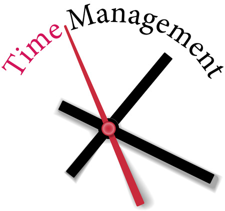 time management: Time clock measure time management personal or business efficiency