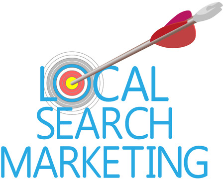 Arrow find Local Search website marketing target Banco de Imagens - 27714212