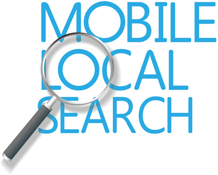 mobile app: Find a Mobile Local Search Marketing solution for business Illustration