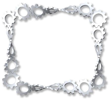 Gears mesh and twist to frame  Zdjęcie Seryjne