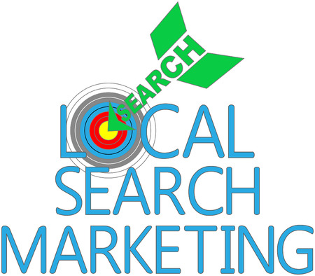 Arrow find Local Search website marketing target Vector