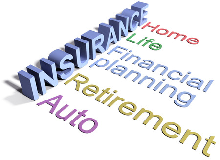 Umfassende Versicherungsleistungen für Zuhause Auto-Leben Finanzplanung Standard-Bild - 29301055