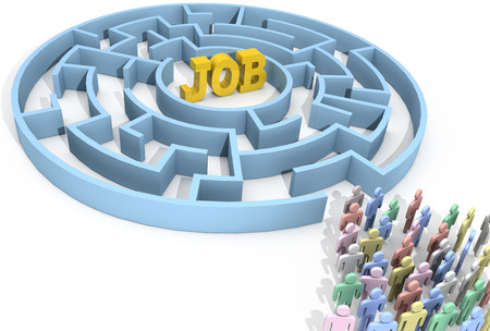 Job search people seek to find employment problem solution