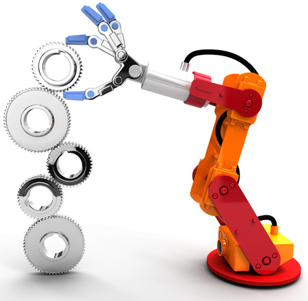 Robotic arm to find and choose best Technology job search solution photo