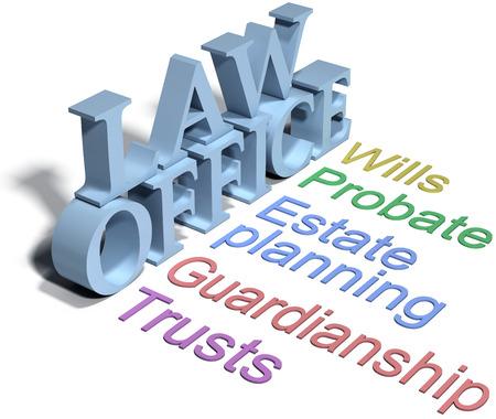 Diensten van estate planning advocaat wil trusts probate Stockfoto