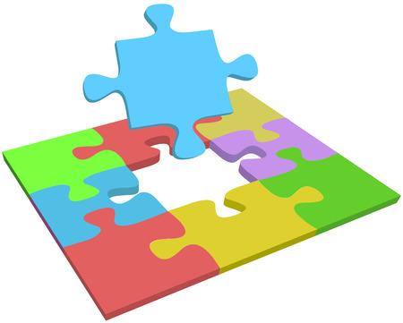 문제 해결의 대답 질문을받는 데 도움을주기위한 퍼즐 조각을 누락 검색