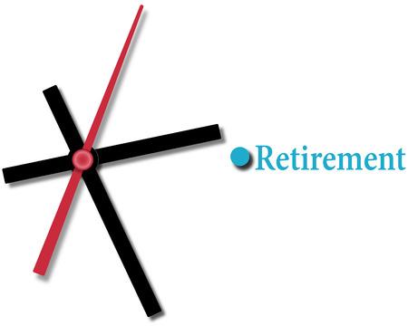 Reloj de relojería acabando en la planificación financiera de jubilación Foto de archivo - 30181789