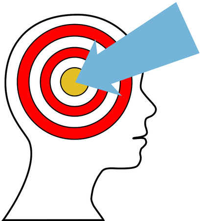 targeted: Business sales lead arrow finds targeted marketing target customer
