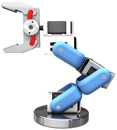 Robotic arm technology isolated hand holds your object