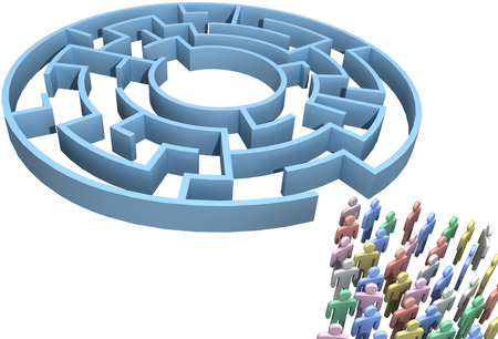 People crowd search maze for crowdsourcing solution to puzzling problem