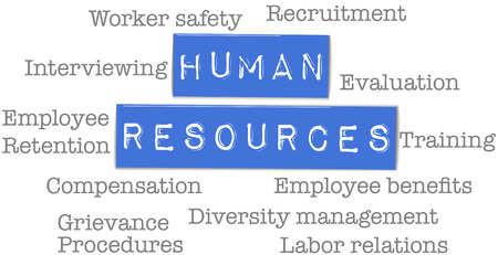Business Human Resources Department words on plastic labels Illustration