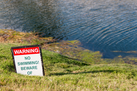 no swimming: No Swimming! Stock Photo