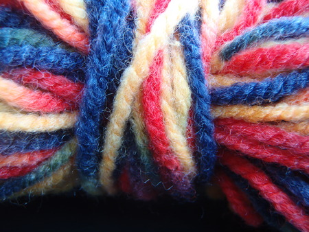 Close up of some woolyarn