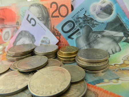 Close up of some Australian currency
