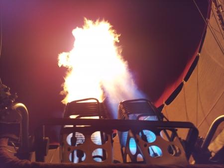 熱い空気バルーン火 写真素材