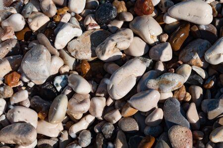 Pebbles on Greek beach Banque d'images - 129499551