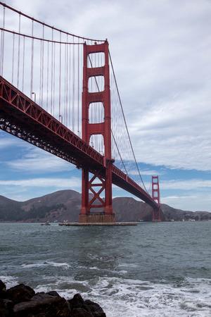 A view of the Golden Gate Bridge, San Francisco
