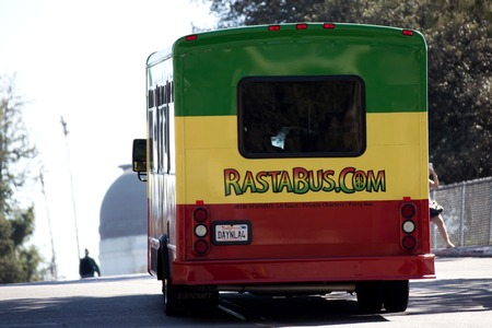 Rastabus in Griffith Park, California Editorial
