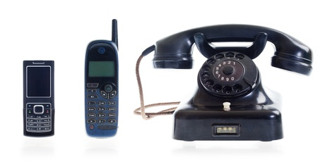From old dial phone to modern cell phone Stock Photo - 17669531