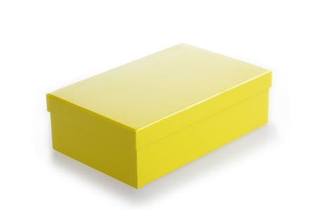 yellow carton box viewed from topside