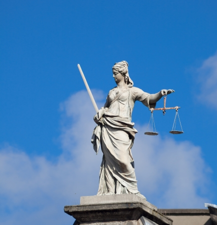 depictions: Statue of Lady JusticeJustitia at the Dublin Castle - different than most depictions of Justitia, this statue is not blindfolded.