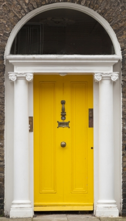 In the 18th century, during the Hanoverian period with British kings ruling the island, several streets and places in Dublin were redesigned. The houses at that time looked all very similar, so to differentiate the owners from their neighbours, the doors  photo