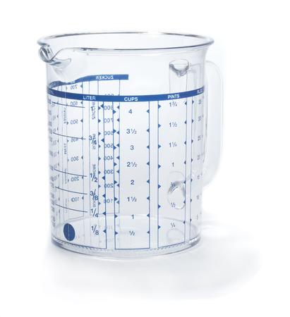 Measuring jug or beaker  Isolated on white background