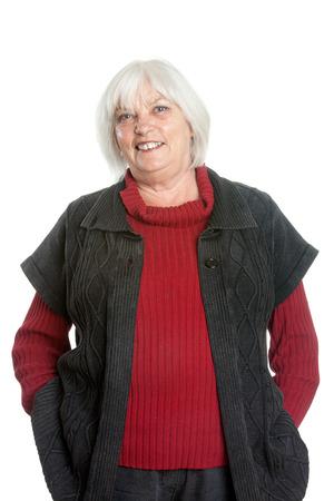 waist up: Happy Casual Senior Woman - Waist Up Portrait