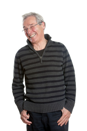 waist up: Senior People - Waist Up portrait - Smiling Man Stock Photo