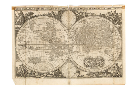 Series of 4 maps taken from an antique bible Stock Photo