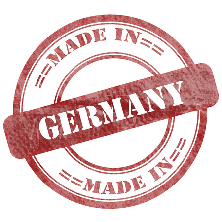 Graphic sign of damaged grunge seal stamp with business text: Made in Germany photo