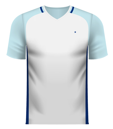 England national soccer team shirt in generic country colors for fan apparel. Illustration