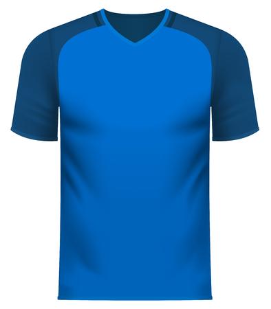 Sports team v-neck tee shirt  vector illustration