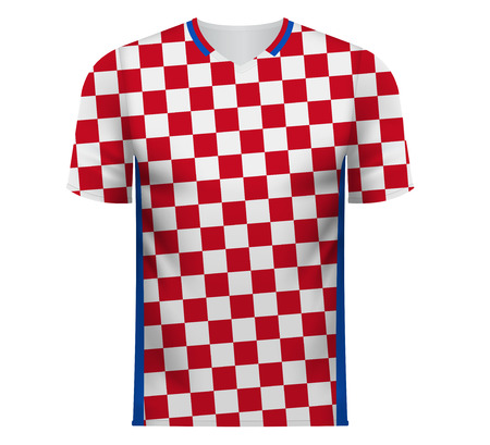 Croatia national soccer team shirt in generic country colors for fan apparel.