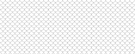 Black and white wide panoramic fish scale geometric pattern background