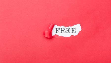 Free written on ripped pieces of cardboard paper 版權商用圖片