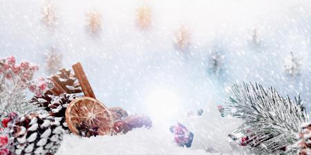 Christmas decoration landscape banner 写真素材