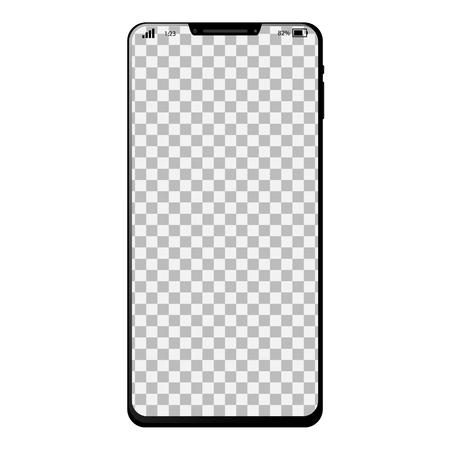 Smartphone générique avec plein écran et fond d'écran