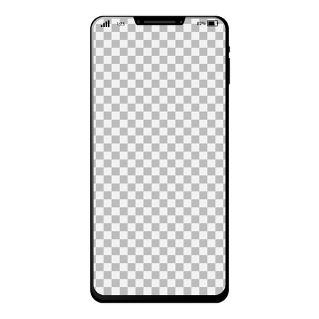 Generic smart phone with full screen and desktop background Illustration