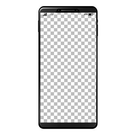 Generic smart phone with full screen and desktop background Ilustração