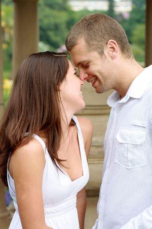young happy caucasian couple photo