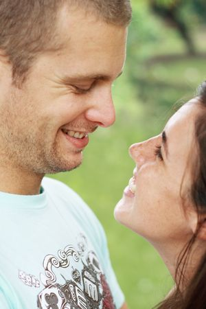 happy young couple in love Stock Photo - 3922955