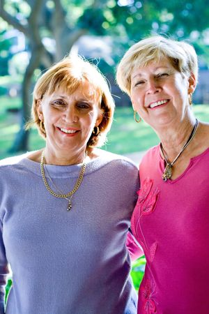 senior women sisters and friends Stock Photo - 3923124