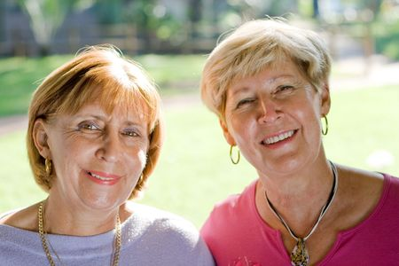 senior women sisters and friends Stock Photo - 3922967
