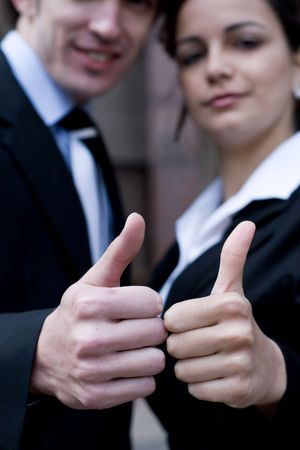 business team thumbs up Stock Photo - 3931641
