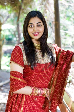 cultural and ethnic clothing: indian woman